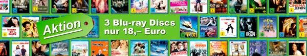 3 Blu-rays für 18 EUR